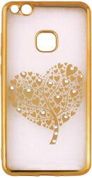 beeyo hearts tree back cover case for huawei p8 lite 2017 p9 lite 2017 gold photo