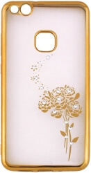 beeyo roses back cover case for samsung a8 plus 2018 a730 gold photo