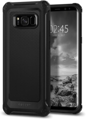spigen rugged armor extra back cover case for samsung galaxy s8 g950 black photo