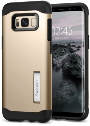 spigen slim armor back cover case stand for samsung galaxy s8 plus gold maple photo