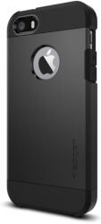 spigen tough armor back cover case stand for apple iphone 5 5s se black photo