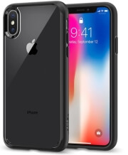 spigen ultra hybrid back cover case for apple iphone x matte black photo