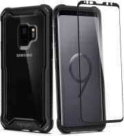 spigen hybrid 360 back cover case glass for samsung galaxy s9 black photo