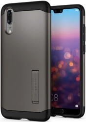 spigen slim armor back cover case stand for huawei p20 gunmetal photo