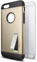spigen slim armor back cover case stand for apple iphone 6 6s champagne gold photo