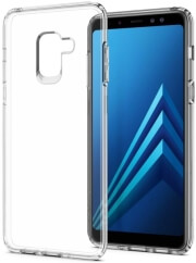 spigen liquid crystal back cover case for samsung galaxy a8 2018 crystal clear photo
