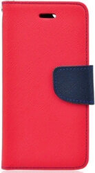 fancy book case for xiaomi mi 8 red navy photo