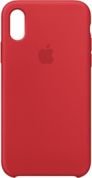 apple mrwc2zm a iphone xs silicone case product red photo