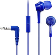panasonic rp tcm115e a in ear headphones with in line mic blue photo