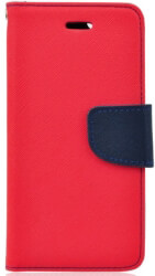 fancy book flip case for xiaomi mi a2 red navy photo