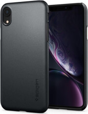 spigen thin fit back cover case for apple iphone xr grey photo