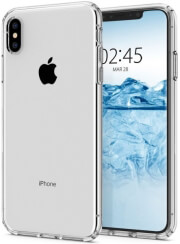spigen liquid crystal back cover case for apple iphone x xs crystal clear photo