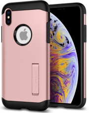 spigen slim armor back cover case stand for apple iphone xs max rose gold photo