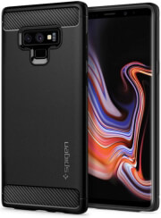 spigen rugged armor back cover case for samsung galaxy note 9 matte black photo