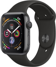 apple watch 4 mu6d2fd 44mm space grey aluminum case with black sport band photo