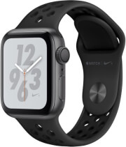 apple watch 4 nike mu6j2 40mm gps space grey aluminum case with dark gray black nike sport band photo
