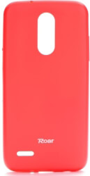 roar colorful jelly back cover case for lg k9 k8 2018 hot pink photo