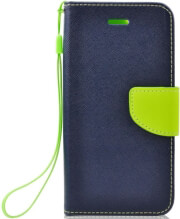 fancy book flip case for huawei psmart plus navy lime photo