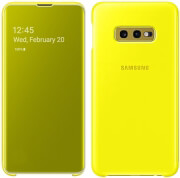 samsung galaxy s10 clear view cover ef zg970cy yellow photo
