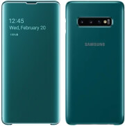 samsung galaxy s10 plus clear view cover ef zg975cg green photo