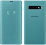 samsung galaxy s10 led view cover ef ng975pg green photo