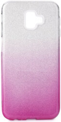 forcell shining back cover case for samsung galaxy j6 j6 plus clear pink photo
