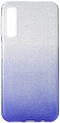 forcell shining back cover case for samsung galaxy a7 2018 a750 clear blue photo