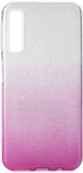 forcell shining back cover case for samsung galaxy a7 2018 a750 clear pink photo