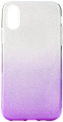 forcell shining back cover case for apple iphone xs 58 clear violet photo