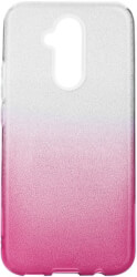 forcell shining back cover case for huawei mate 20 lite clear pink photo