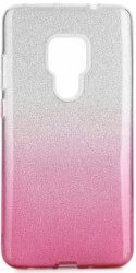 forcell shining back cover case for huawei mate 20 clear pink photo