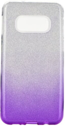 forcell shining back cover case for samsung galaxy s10 lite clear violet photo