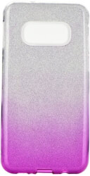 forcell shining back cover case for samsung galaxy s10 lite clear pink photo