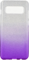 forcell shining back cover case for samsung galaxy s10 plus clear violet photo