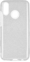 forcell shining back cover case for huawei psmart 2019 silver photo