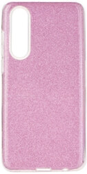 forcell shining back cover case for huawei p30 pink photo