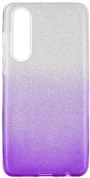 forcell shining back cover case for huawei p30 transparent violet photo