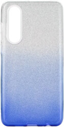 forcell shining back cover case for huawei p30 clear blue photo