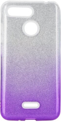 forcell shining back cover case for xiaomi redmi 6 clear violet photo