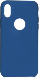forcell silicone back cover case for apple iphone xs 58 blue with hole photo