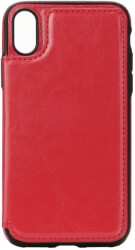 forcell wallet flip case for apple iphone xs red photo