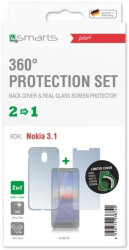 4smarts 360 protection set limited cover for nokia 31 clear photo