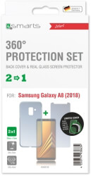 4smarts 360 protection set limited cover for samsung galaxy a8 2018 clear photo