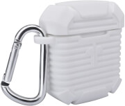 4smarts silicone case with carabiner for apple airpods white photo
