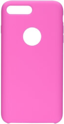 forcell silicone back cover case for apple iphone 8 plus hot pink with hole photo