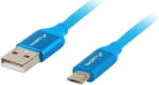 lanberg premium cable usb qc 30 micro bm am 20 18m blue photo
