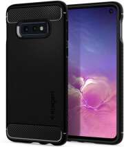 spigen rugged armor back cover case for samsung galaxy s10e matte black photo