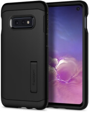 spigen tough armor back cover case stand for samsung galaxy s10e s10 lite black photo