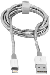 verbatim 48859 lightning sync charge cable lightningm usb am 1m silver photo