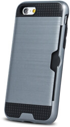 defender card back cover case for apple iphone x silver photo